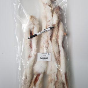 Konijnhuid met vacht 250 gram