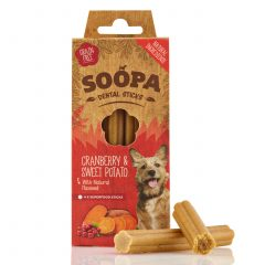 Soopa, Dental stick Cranberry & Zoete aardappel