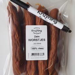 Worstjes Zalm 250 gram