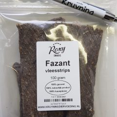 Vleesstrips Fazant 100 gram