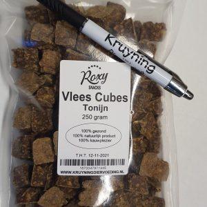 Vlees Cubes Tonijn 250 gram